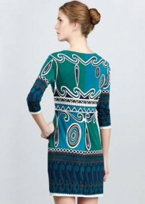 Платье с оригинальным орнаментом Emilio Pucci