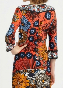 Пестрое платье с цветочным принтом Emilio Pucci