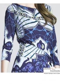 Платье с эффектным асимметричным поясом Emilio Pucci