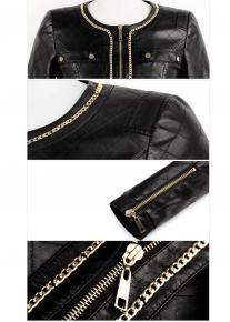 Куртка декорированная цепью