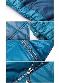 Стеганная куртка с объемным воротником