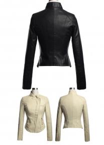 Куртка с асимметричным бортом на молнии