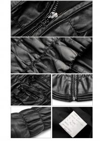 Стеганная гофрированная куртка