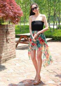 Платье бюстье с юбкой шлейфом