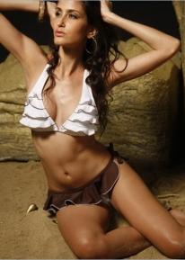 Гофрированное пляжное бикини