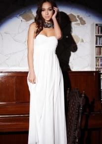 Красивое длинное шифоновое платье