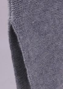 Вязанное худи с кармашками