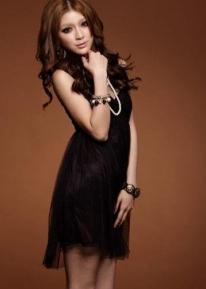 Красивое шифоновое вечернее платье