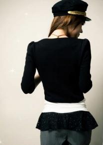 Жакет с узкими рукавами