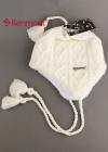 Теплая ажурная шапка с кисточками