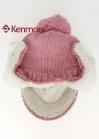 Зимняя вязаная шапка с козырьком