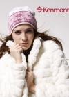 Вязаная шапка со снежинками