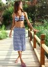 Пляжный комплект с юбкой сарафаном
