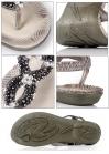 Сандалии декорированные бисером