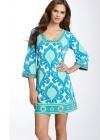 Платье с красивым вырезом и эффектным орнаментом Emilio Pucci