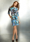 Платье с эффектным узорным орнаментом Emilio Pucci