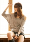 Пуловер с рукавами